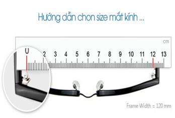 Hướng dẫn chon size mắt kính ...