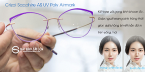 Tròng Kính Essilor 1.59 Crizal Sapphire AS UV Poly Airmark