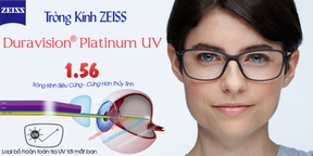 Tròng Kính Ziees 1.56 Duravision Platinum UV