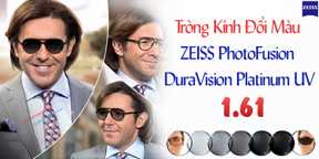 Tròng Kính Đổi Màu 1.61 ZEISS PhotoFusion DuraVision Platinum UV