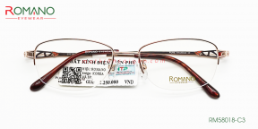 Gọng Kính Nữ Romano RM58018 C3