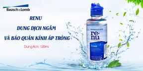 Dung Dich Ngâm Kính Bảo Quản Áp Tròng RENU 120ml