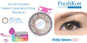 Kính Áp Tròng Freshkon Colors Fusion 3 Tháng Perky Brown C12