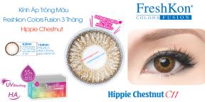 Kính Áp Freshkon Colors Fusion 3 Tháng Hippie Chestnut C11