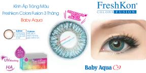 Kính Áp Tròng Tròng Freshkon Colors Fusion 3 Tháng Baby Aqua C9