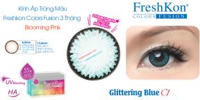 Kính Áp Tròng Freshkon Colors Fusion 3 Tháng Glittering Blue C1