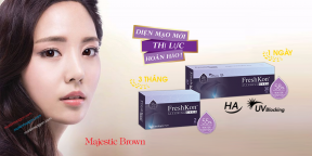 Kính Giãn Tròng Freshkon Alluring Eyes Majestic Brown B5