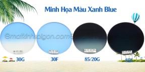 Tròng Kính Mát Có Độ Chemi Lens 1.60 Màu Blue 85F