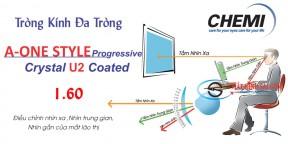 Tròng kính Đa Tròng Chemi 1.60 A One Style U2 Coate