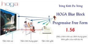 TRÒNG KÍNH ĐA TRÒNG HOGA 1.56 BLUE BLOCK FREE FORM