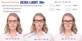 TRÒNG KÍNH ĐA TRÒNG ZEISS LIGHT 3Dv LotuTec UV 1.50v