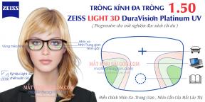 TRÒNG KÍNH ĐA TRÒNG ZEISS LIGHT 3D PLATINUM UV 1.50