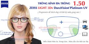 TRÒNG KÍNH ĐA TRÒNG ZEISS LIGHT 3Dv PLATINUM UV 1.50