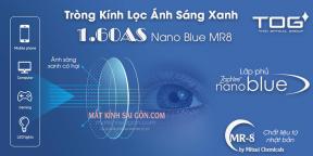TRÒNG KÍNH LỌC ÁNH SÁNG XANH 1.60 NANO BLUE MR8