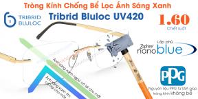 Tròng Kính Chống Bể Lọc Ánh Sáng Xanh Tribrid Bluloc 1.60