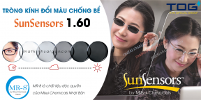 TRÒNG KÍNH ĐỔI MÀU CHỐNG BỂ  SunSensors 1.60