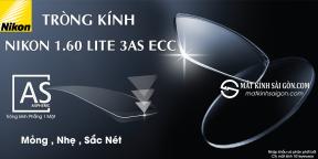 TRÒNG KÍNH PHẲNG 1 MẶT NIKON 1.60 LITE 3AS ECC