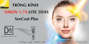 Tròng Kính Nikon 1.74 Lite 4DAS SeeCoat Plus
