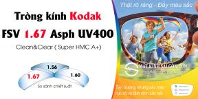TRÒNG KÍNH Kodak FSV 1.67 Asph UV400