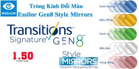 Tròng kính Đổi Màu 1.50 Essilor Trasitions Gen8™ Style Mirrors