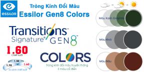 Tròng kính Đổi Màu 1.60 Essilor Trasitions Gen 8™ Colors