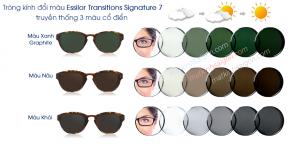 Tròng Kính Đổi Màu 1.50 Essilor Transitions Signature 7