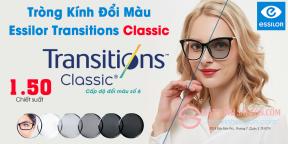 Tròng Kính Đổi Màu 1.50 Essilor Transitions Classic