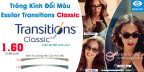 Tròng Kính Đổi Màu 1.60 Essilor Transitions Classic