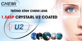 TRÒNG KÍNH CHEMI U2 CRYSTAL COATED 1.56 UV400