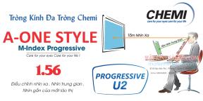 Tròng Kính Đa Tròng Chemi U2 A-One Style 1.56