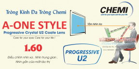 Tròng Kính Đa Tròng Chemi U2 A-One Style 1.60