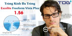 Tròng Kính Đa Tròng 1.56 Excelite Freeform Vista Plus