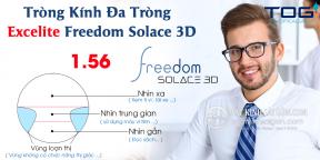 Tròng Kính Đa Tròng 1.56 Excelite Freedom Solace 3D