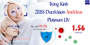 Tròng Kính  ZEISS DuraVision AntiVirus  Platinum UV